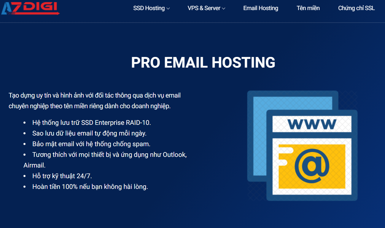 Email doanh nghiệp - Pro Email hosting